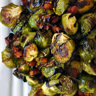 Brussels Sprouts with Pancetta and Balsamic Syrup.