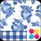 CuteTheme-BlueGingham and Rose icon