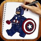 Draw Lego Superheroes