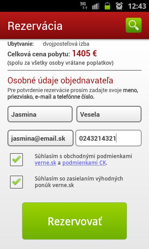 Dovolenka online- screenshot