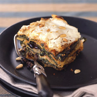 "Mexican Poblano, Spinach, and Black Bean ""Lasagne"" with Goat Cheese"
