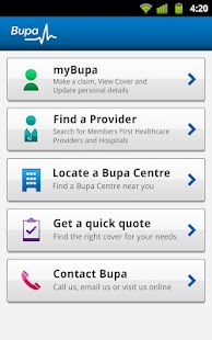 Bupa - screenshot thumbnail