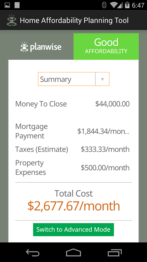 Home Affordability Calculator- screenshot