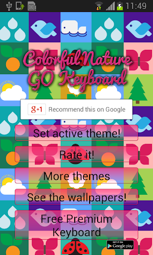 Colorful Nature GO Keyboard