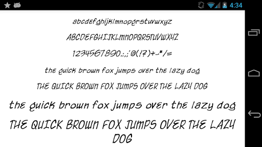 Fonts for FlipFont 50 Written  screenshots 4