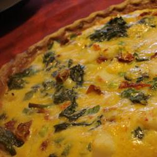 Surimi, Spinach, and Roasted Red Pepper Quiche Recipe