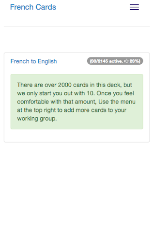 Learn French Cards