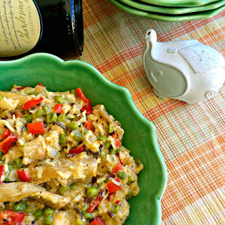 Creamy White Wine Chicken & Rice Recipe