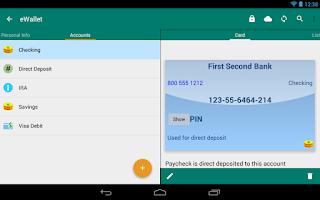 Screenshot of eWallet - Password Manager