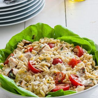 Chicken Basil Orzo Salad