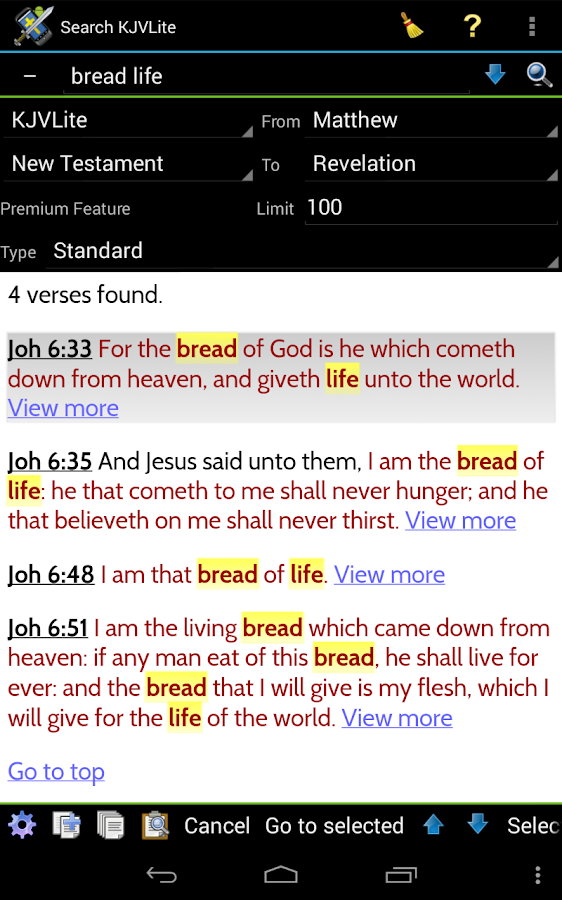 MySword Bible - screenshot