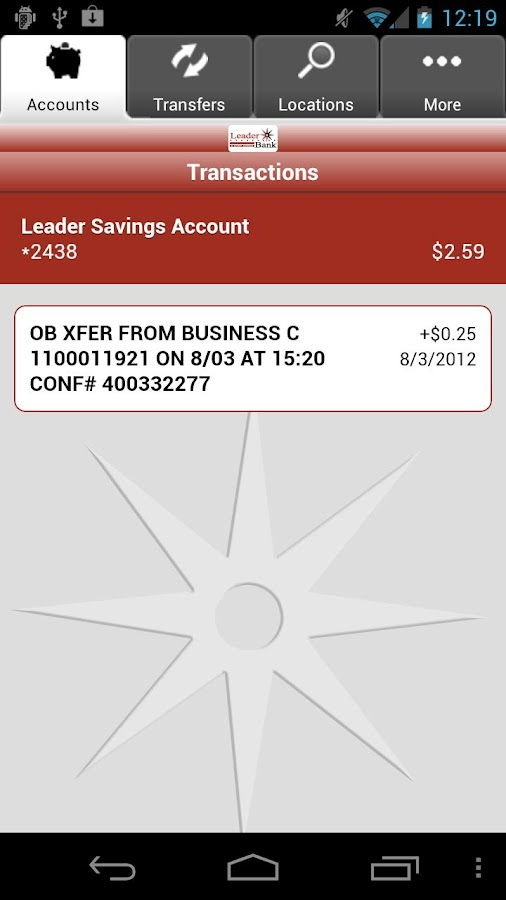 Leader Bank Mobile Banking- screenshot