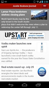 Austin Business Journal- screenshot thumbnail