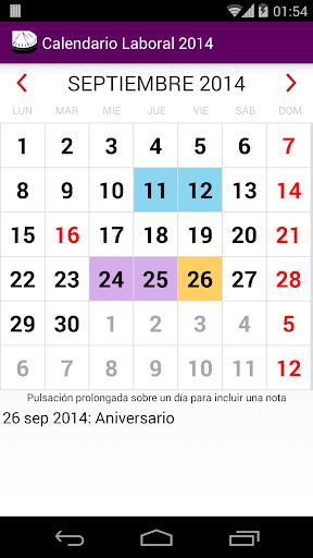 Calendario 2015 México