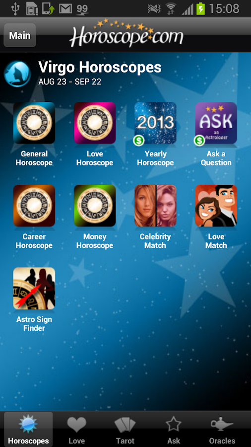 Horoscope and Tarot - screenshot