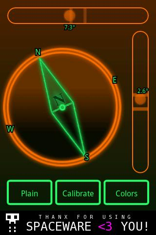 Micro Spirit Level + Compass - screenshot