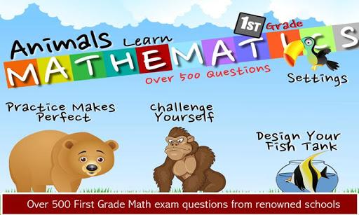 Animals Learn Math First Grade