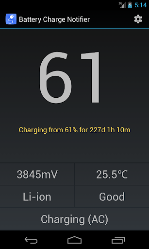 Battery Charge Notifier