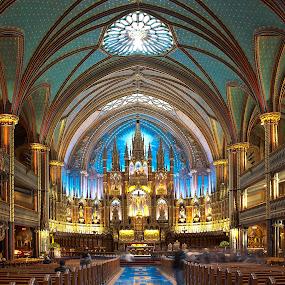 Basilique Notre-Dame de Montréal by Ivan Anchev - Buildings & Architecture Places of Worship ( interior, montreal, quebec, canada, church, notre-dame, basilique )