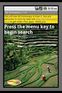 IEI Dictionary- screenshot thumbnail