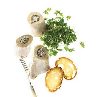 Roasted Bone Marrow with Fresh Horseradish Gremolata.