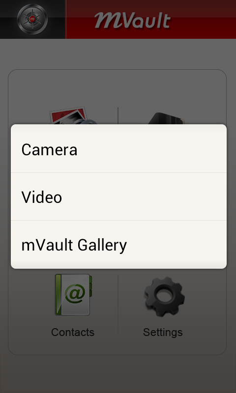 mVault- screenshot