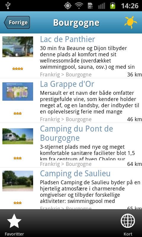 Camping Cheque guiden- screenshot