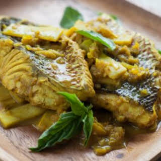 Indonesian-Style Fish with Tamarind-Turmeric Sauce.