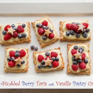 Star-Studded Berry Tarts with Vanilla Pastry Cream