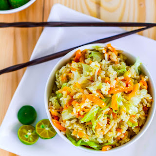 Skinny Garlic Fried Rice