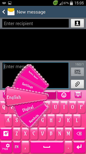 粉红色的键盘S4