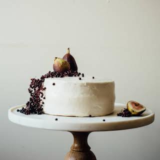 Hazelnut Layer Cake W/ Fig Compote + (vegan) Cream Cheese Frosting (gluten + Dairy Free).