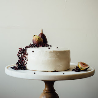 Hazelnut Layer Cake W/ Fig Compote + (vegan) Cream Cheese Frosting (gluten + Dairy Free).