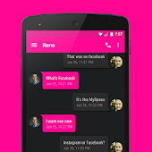 EvolveSMS Theme Stealth Pink