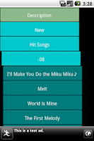 Screenshot of MikuTube ( Hatsune Miku)