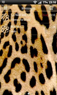 GO SMS Pro Leopard Theme - screenshot thumbnail