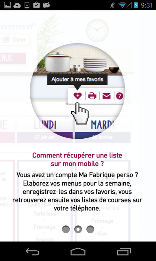 Mes courses - Fabrique à menus - screenshot