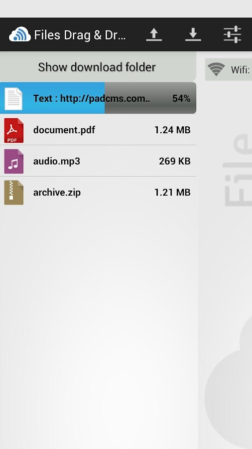 Files Drag & Drop- screenshot