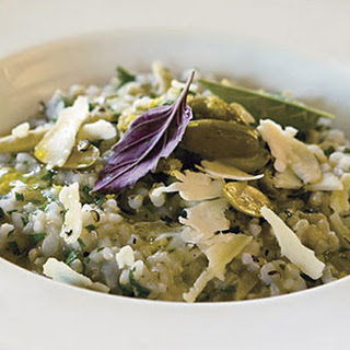 Brown Rice Pilaf with Green Olives and Lemon