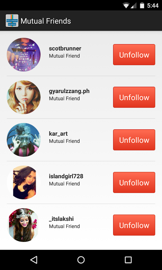 Follower insight for instagram android apps on google play follower insight for instagram screenshot ccuart Image collections