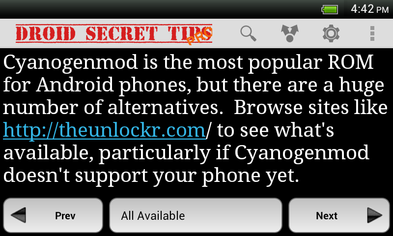 Droid Secret Tips Pro- screenshot