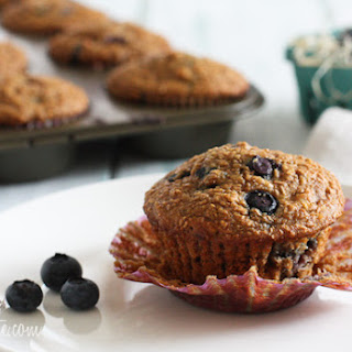 Honey Coconut Blueberry Bran Muffins