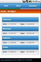 Screenshot of Gold Price India Live