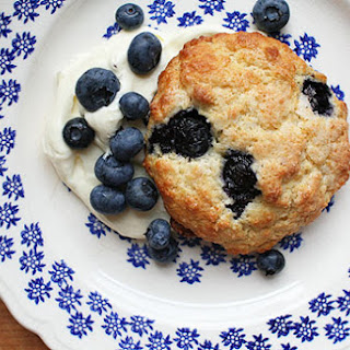 Blueberry Shortcakes with Whipped Cream Cheese.