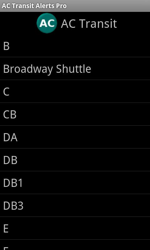 AC Transit Alerts Pro- screenshot
