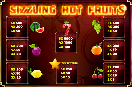sizzling hot game for android