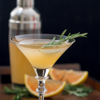 Spicy Rosemary Grapefruit Martini.