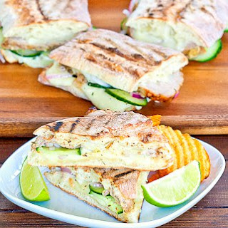 Cuban Panini with Quick Pickles