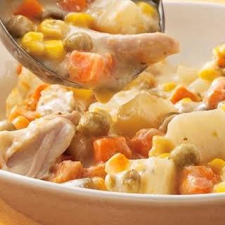 Slow-Cooker Chicken Alfredo Stew.