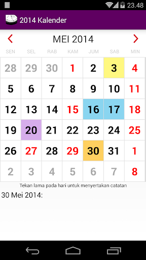 Indonesia 2015 Kalender adFree